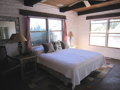 Master bedroom captures the glorious morning sunrises Borrego has to offer