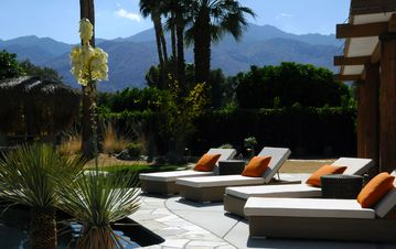 Palm Springs house rental - Back Yard Views, Facing West