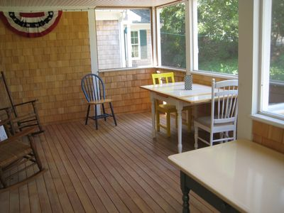 Osterville house rental - screened in porch