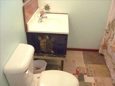 Bathroom with Shower and Tub.. With Specialty tile work....