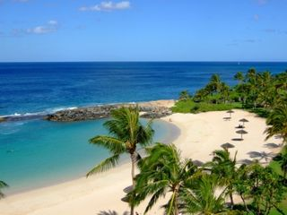 Ko Olina villa photo - Beach lagoon 2 with built in shade umbrellas- all you need is your swim suit!