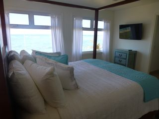 Anahola house photo - Master bedroom with Fantistic ocean view.