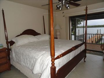 First floor guest suite has fabulous view of Matanzas Bay. Has own bathroom.