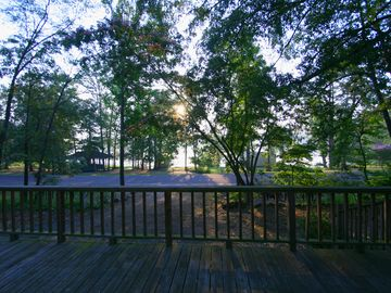 Watch the sun rise over the lake from the deck with your morning coffee.