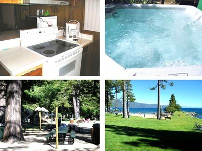 Incline Village cabin rental - Kitchen, Private Spa, Private Playground at Incline Beach and Burnt Cedar Beach