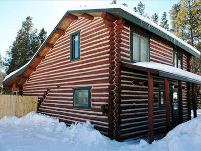 Winter Front of Cabin