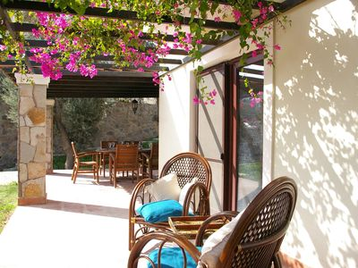 Bodrum villa rental - Along the terrace