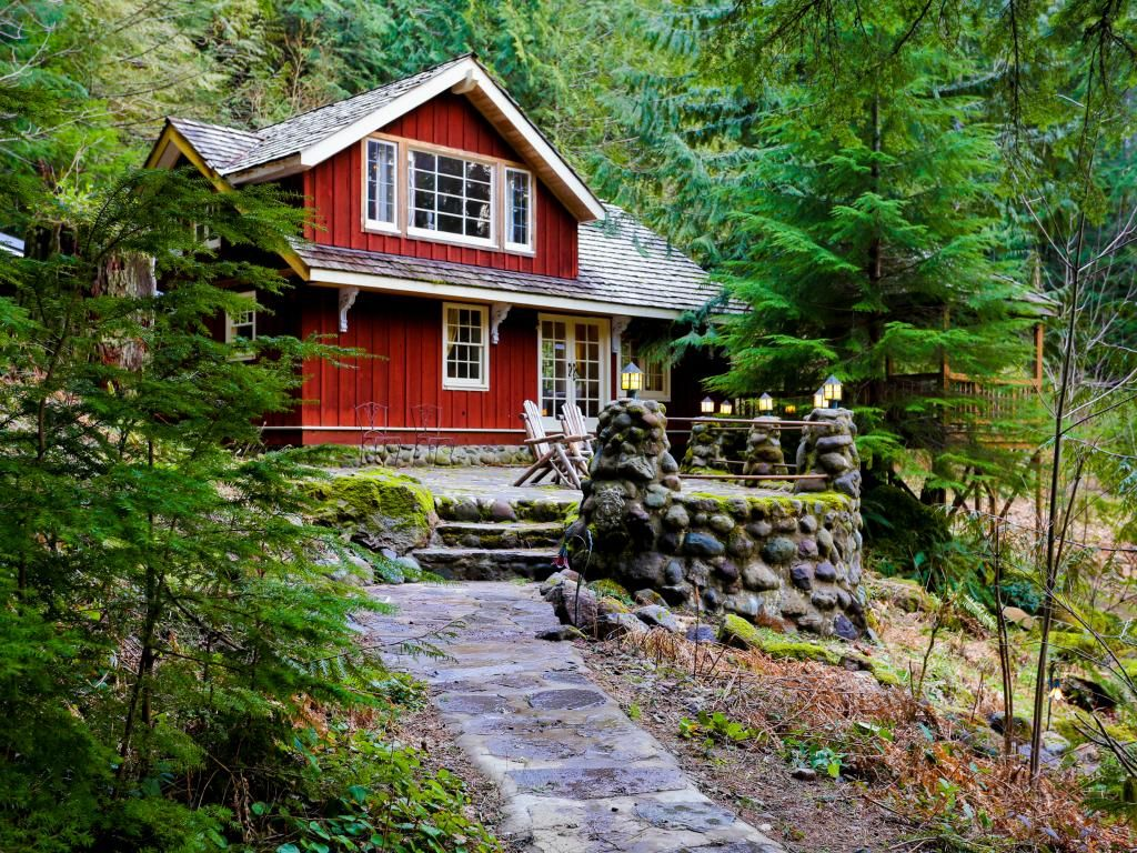 Memorable riverfront lodge with stone patio,... - VRBO
