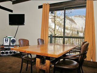 Steamboat Springs condo photo - HDTV, DVD, & Stereo, & Dining with a Slope View