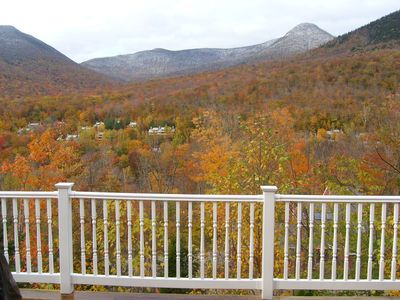 Lincoln house rental - Incredible view from the back deck, sitting in the hot tub!!