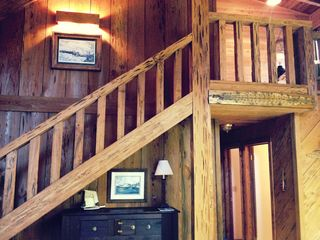 Apalachicola cabin photo - let's head up stairs and take a look...