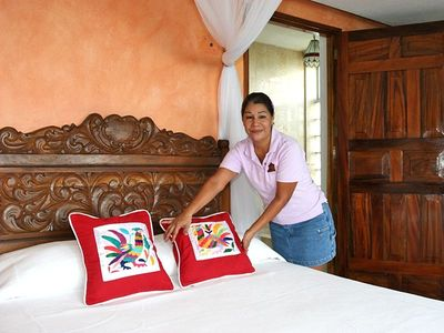 Carmen our maid, one of our staff of 5 who will make your visit memorable