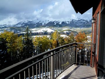 Mountain Village condo rental - view from balcony.