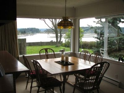 Dining room with view of Fisherman Bay Channel