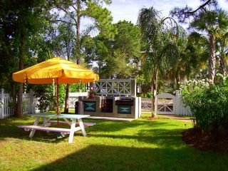 Seagrove Beach house photo - Our Spacious Grounds. Notice The Great Grilling and Picnic Area.
