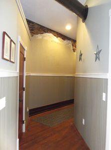 Art and historic charm from the entryway