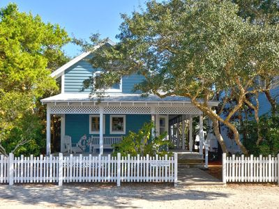 Front Exterior | Blue Suede Shoes| Cottage Rental Agency- Seaside, FL