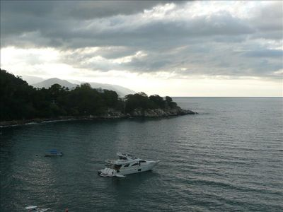 "Nearby cove and film set of ""The Night of the Iguana"""