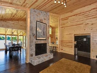 Lake Arrowhead house photo - Family room with remote control gas fireplace.
