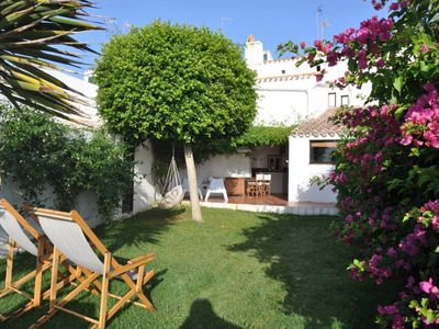 Menorca typical village house with large garden