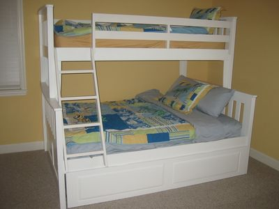 Bedroom #3 - Kids room with bunk bed (full & twin) and trundle (twin)