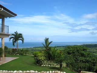Nosara villa photo - The panoramic Pacific view from the entry.