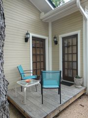 New Braunfels house photo - Private side patio off the living room & master bedroom