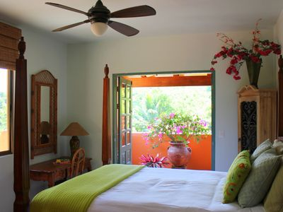 2nd floor guest suite enjoys access to garden and fountain view verandas