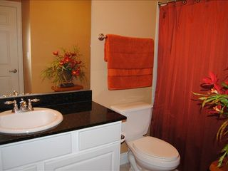 Calypso Resort condo photo - Private Master Bath with granite counters and tub/shower combo