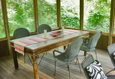 Large Screened Porched Offers Relaxed Dining