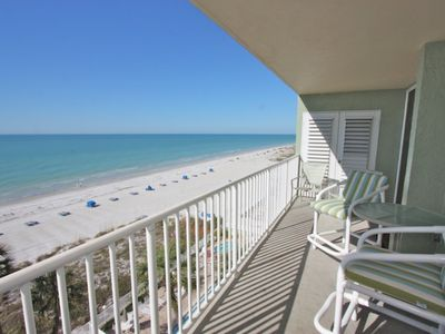 Private Patio with Seating for 4 Overlooking The Gorgeous Gulf of Mexico in Indian Shores, FL