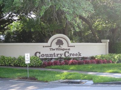 Country Creek Entrance