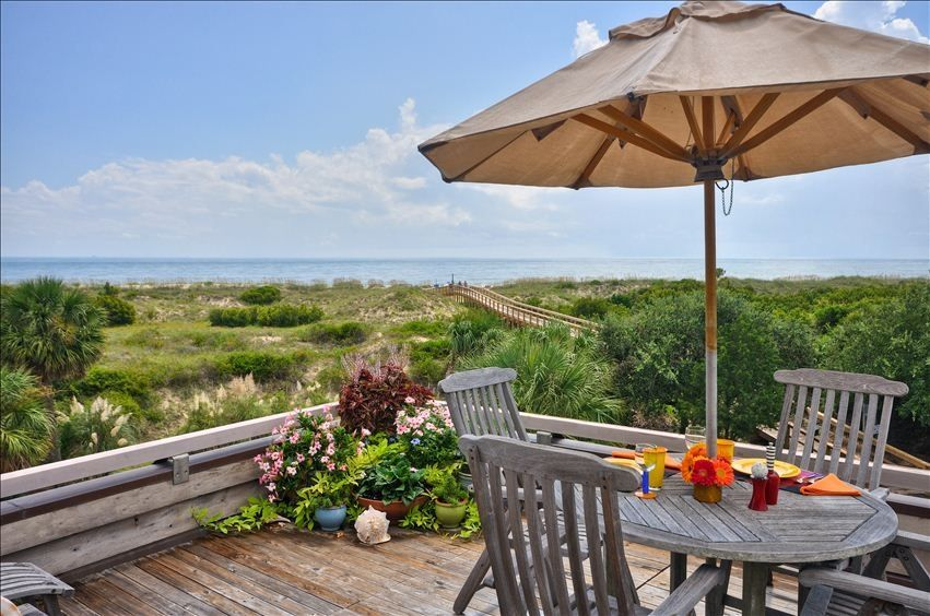 unobstructed view of beautiful tybee island beach from your 3rd floor