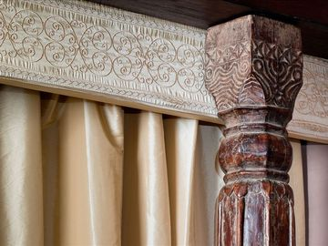 These anique wood carvings add a marvelous accent to a memorable place.