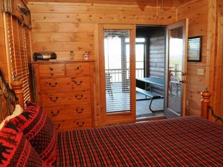 Blue Ridge cabin photo - Second Bedroom and Screened Porch