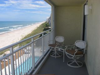 Indian Harbour Beach condo photo - The private balcony offers impressive views