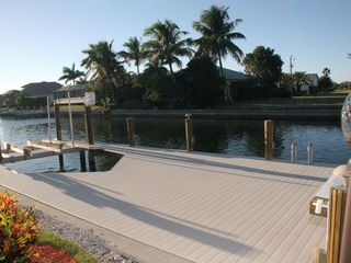 Marco Island house photo - Lovely dock for dolphin watching and fishing or sipping a cup of coffee.