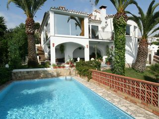 Caleta de Velez villa photo - South side. Private swimming pool. Private tropical garden. Sea views.