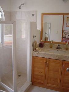 Bathroom with big shower in second and third bathroom