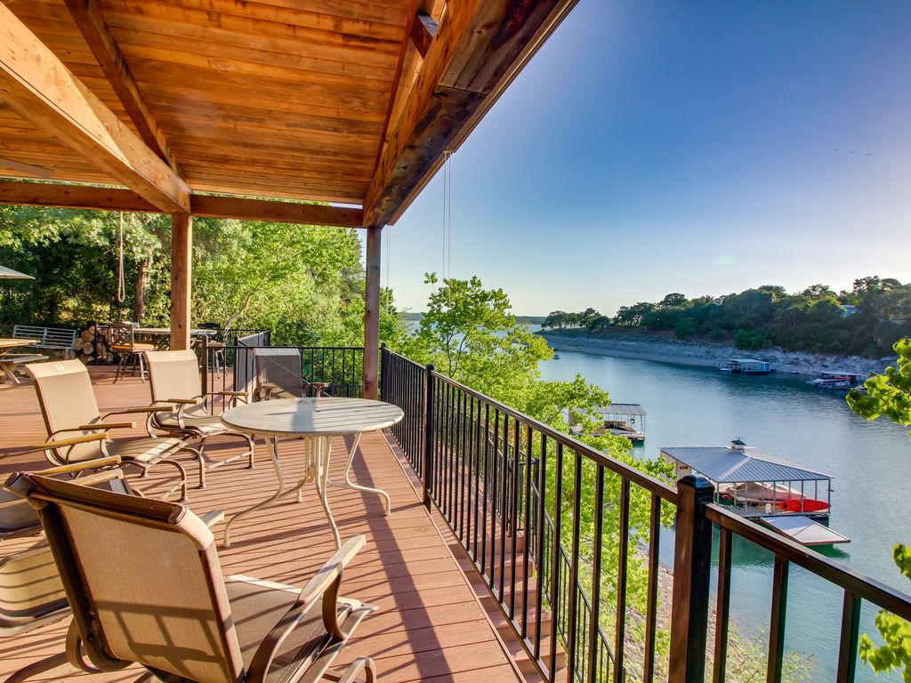 NEW LISTING! Lakefront house w/ lake views, large deck & dock – dogs OK!
