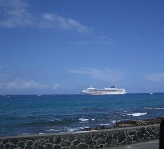 Every week we see the cruise ships.