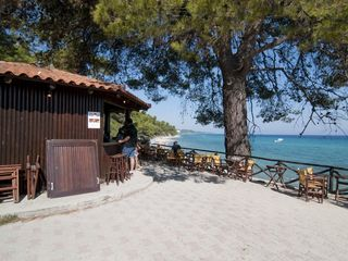 Chalkidiki house photo - The kiosk at the beach selling coffee, sandwiches and refreshments