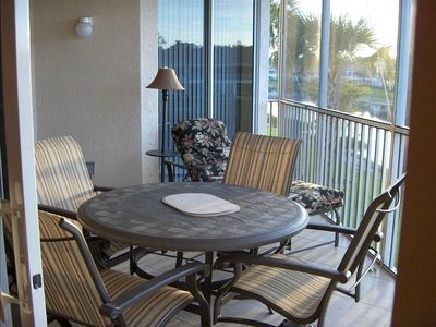 Lanai with Full Dining Table plus Chaise Lounge