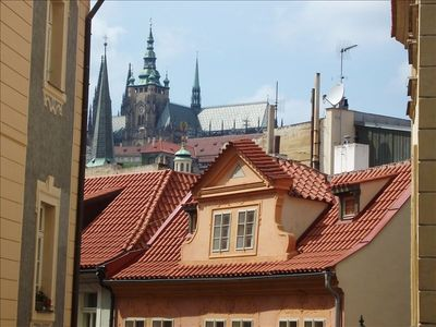 Prague Castle viewed from the Living Room