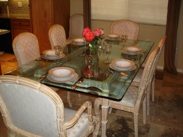 Dining Room table set for 6