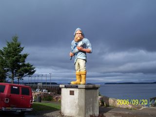 Perry cottage photo - Fisherman statute at the Eastport harbor