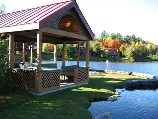 Lincoln condo photo - Lake Gazebo with gas grill available for use by renters.