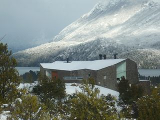 Bariloche house photo - House in winter,from above, lake view