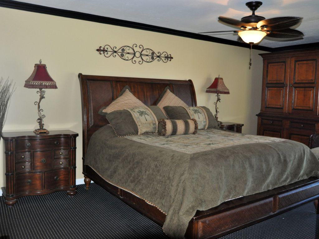 The Master Bedroom accesses the patio and has a newly remodeled ensuite bath
