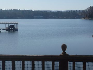 Hot Springs cottage rental - View of Lake Hamilton from the deck that extends over the lake